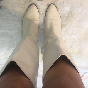 Vintage Nine West White Boots